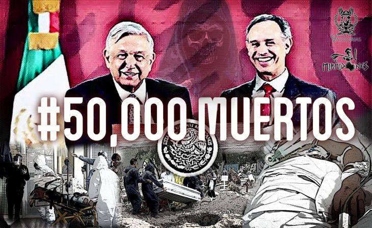 50 mil muertos coronavirus méxico