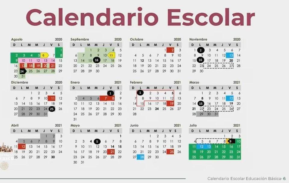 calendario escolar 2020 2021 mexico
