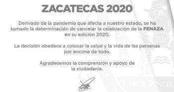 cancelan fenaza 2020 coronavirus