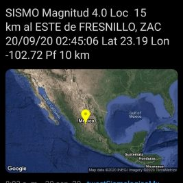 temblor fresnillo zacatecas